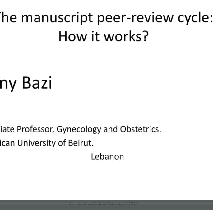 The Manuscript Peer-Review Cycle How it Works